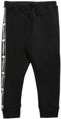 DSQUARED2 Cotton Sweatpants W/ Logo Side Bands