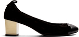 Lanvin Capped-toe suede pumps