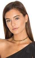 Shashi Rasheeda Crystal Choker in Metallic Gold.
