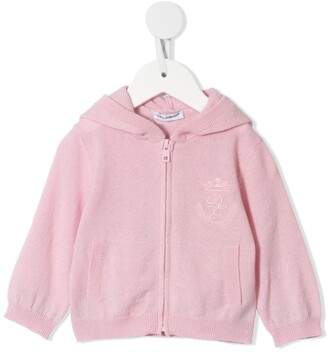Dolce & Gabbana Kids Logo-Embroidered Zip-Up Cardigan