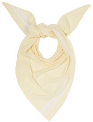Allude Triangle Knitted-cashmere Scarf - Cream