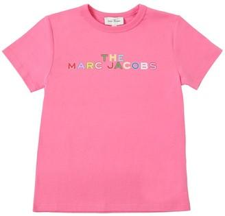 Little Marc Jacobs Logo Print Organic Cotton Jersey T-Shirt