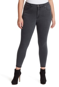 Jessica Simpson Trendy Plus Size Gray Skinny Jeans