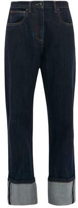 Valentino Turn-up Selvedge-denim Jeans - Womens - Denim