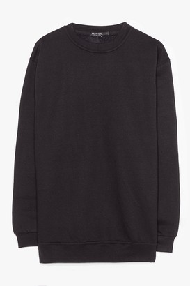 Nasty Gal Womens Plus Oversized Sweatshirt - Black - L