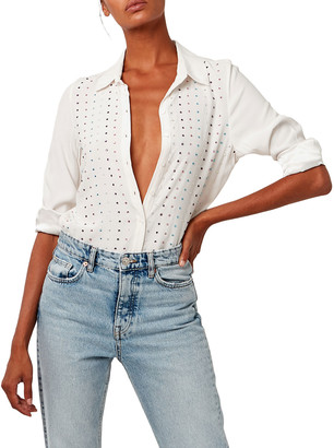 As By Df Paloma Jeweled Button-Up Blouse