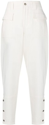 Dolce & Gabbana Buttoned Sides Tapered Trousers