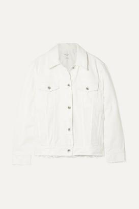 Rag & Bone Frayed Denim Jacket - White