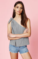 KENDALL + KYLIE Kendall & Kylie Gingham One Shoulder Tank Top