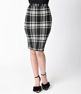 White Stretch Pencil Skirt - ShopStyle