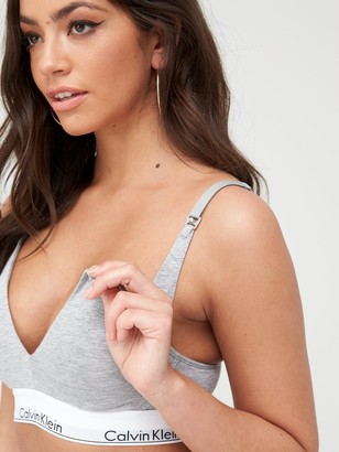 Calvin Klein Modern Cotton Maternity Bra - Grey