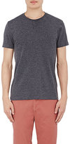 Barneys New York MEN'S MÉLANGE JERSEY CREWNECK T-SHIRT-DARK GREY SIZE L