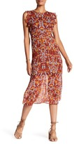 Line & Dot Celestine Printed Peasant Dress
