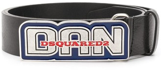DSQUARED2 Lacquered-Buckle Belt
