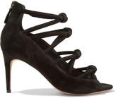 Alexandre Birman Knot Suede Sandals - Black