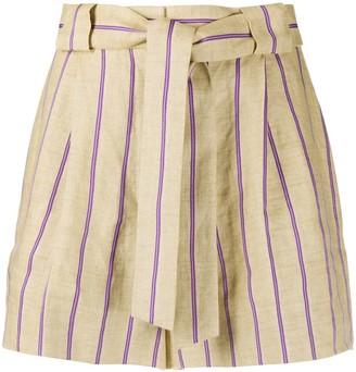 Sandro Paris Striped Tailored Shorts