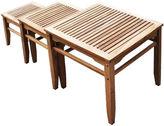 Asstd National Brand Teak 3-pc. Outdoor Nesting Table Set
