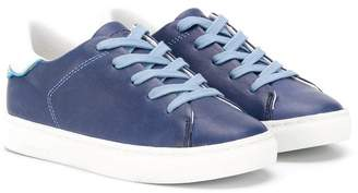 Crime London Kids contrast lace-up sneakers