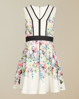 Ted Baker SOLARH Pergola print panelled skater dress