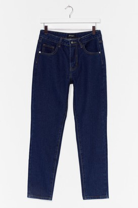 Nasty Gal Womens Wash What You're Doing Mom Jeans - Blue - 4, Blue