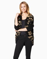 Charming charlie Geometric Style Cocoon Cardigan