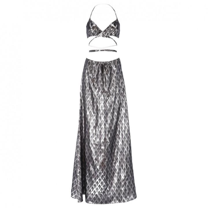 Jeremy Scott Silver Synthetic Dresses