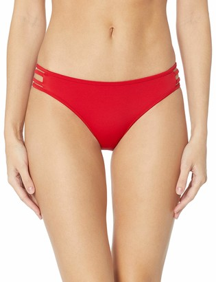 GUESS Women's Cut Out Brazilian Bikini Bottom