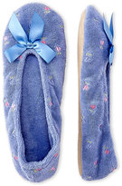 Isotoner Embroidered Ballerina Slippers