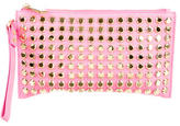 Michael Kors Studded Embellished Leather Wristlet