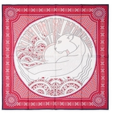 """Cartier Vintage Red Panther Silk Scarf, 34"""" x 34"""""""