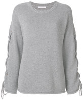 See by Chloe cross-tie sleeve sweater - women - Nylon/Viscose/Cashmere/Wool - XS