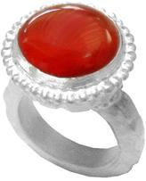 Chen Fuchs Jewelry Red Agate Gemstone Cocktail Ring