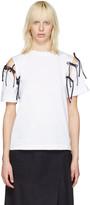 Facetasm White Tie Shoulder T-shirt