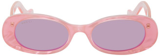 Gucci Pink Oval Sunglasses