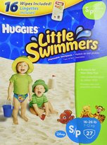 Huggies Little Swimmers - Small (27 Swim Pants 16 Baby Wipes by