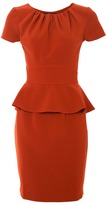 CLOSET Gathered neck peplum dress