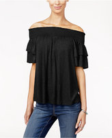 INC International Concepts Ruffle-Sleeve Off-The-Shoulder Top, Only at Macy's