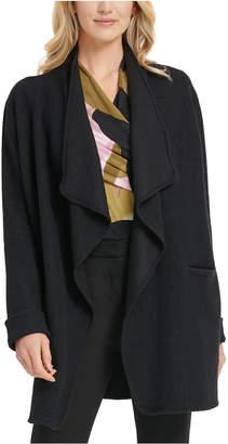 DKNY Cascade-Lapel Open-Front Jacket
