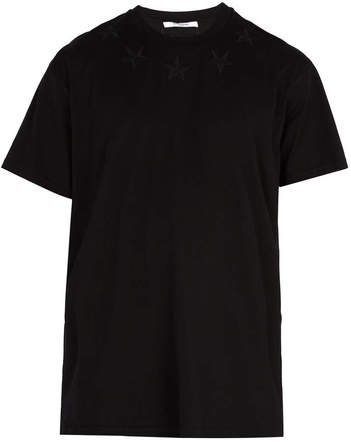 Givenchy Star-embroidered long-line T-shirt
