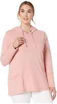 Jag Jeans Plus Size Gemma Pullover Hoodie (Coral Blush) Women's Clothing