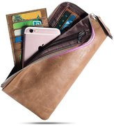 HAUTTON Womens Ladies Genuine Leather Wallets Long Clutch Credit Card Purse Wallets for men