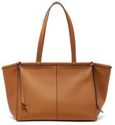 Loewe Cushion Large Grained-leather Tote Bag - Womens - Tan