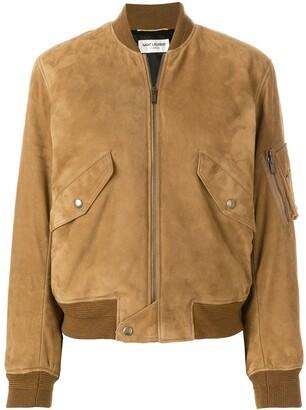 Saint Laurent lambskin bomber jacket