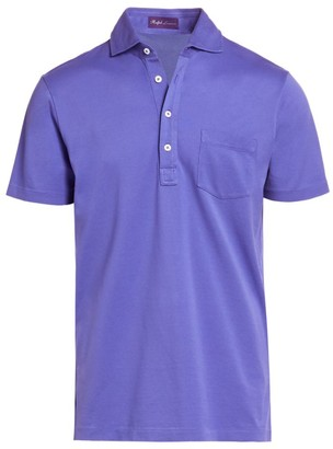 Ralph Lauren Purple Label Washed Non-Logo Short-Sleeve Polo