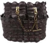Alexander McQueen Crocodile Waist Belt