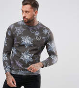 Hype Christmas Sweatshirt In Black With Snow Print