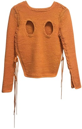 Craig Green Orange Cotton Knitwear