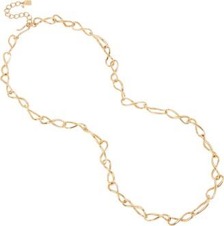 Robert Lee Morris Soho Gold Twist Link Long Necklace