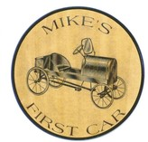 The Well Appointed House First Car Personalized Plaque