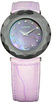 Jowissa Women's J1.161.L Safira 99 Mother-Of-Pearl Crystal Faceted Sapphire Glass Watch